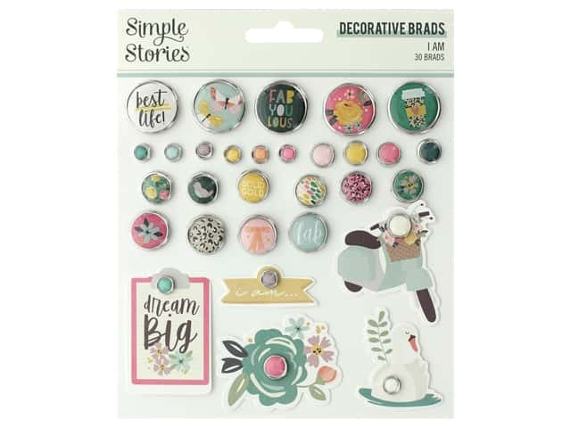 Simple Stories Collection I Am Decorative Brads