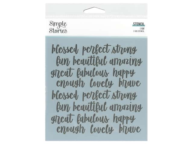 Simple Stories Collection I Am Stencil 6 in. x 6 in. Affirmations