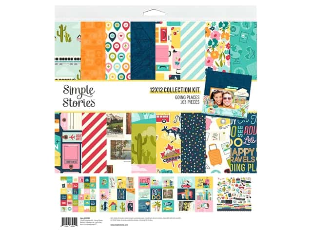 Simple Stories Collection Going Places Collection Kit