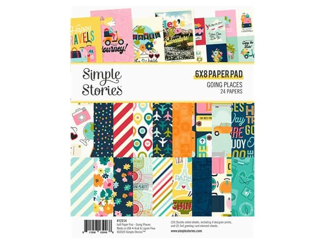 Simple Stories Collection Going Places Paper Pad 6 in. x 8 in.