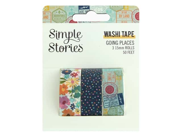 Simple Stories Collection Going Places Washi Tape