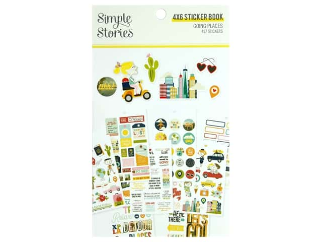 Simple Stories Collection Going Places Sticker Book 4 in. x 6 in.