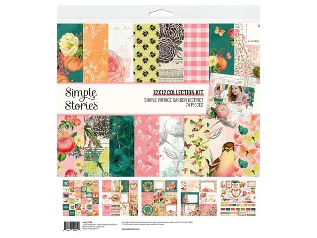 Simple Stories Collection Simple Vintage Garden District Collection Kit 12 in. x 12 in.