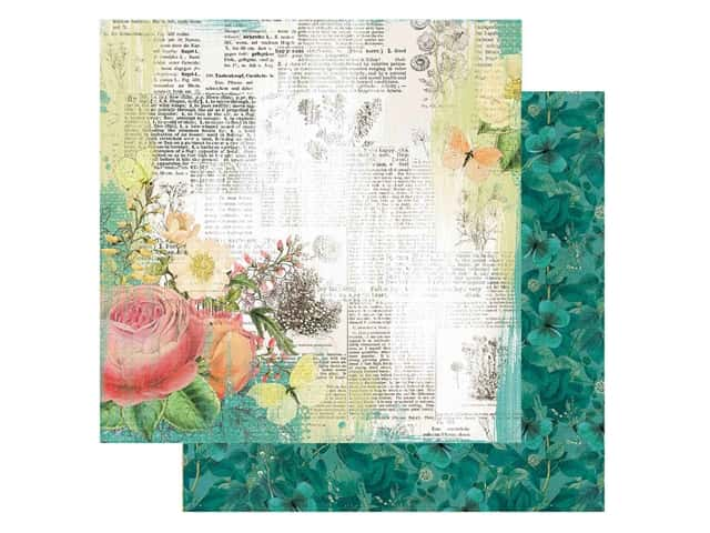 Simple Stories Collection Simple Vintage Garden District Paper12 in. x 12 in. Live For Today