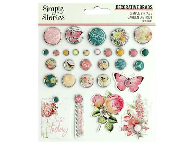 Simple Stories Collection Simple Vintage Garden District Decorative Brads