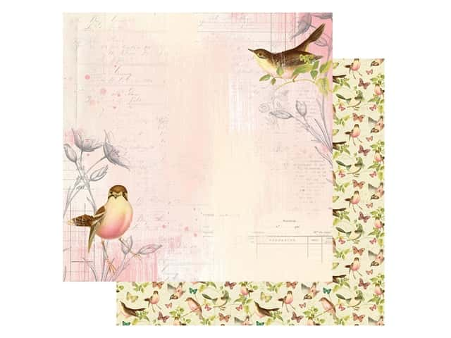 Simple Stories Collection Simple Vintage Garden District Paper12 in. x 12 in. Use Your Wings