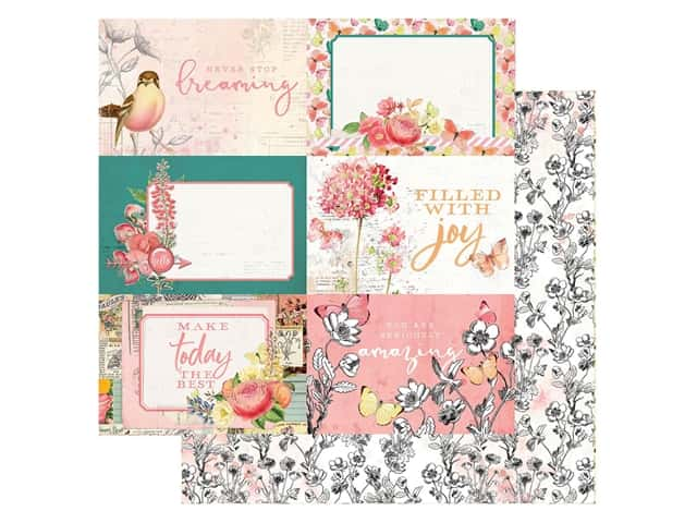 Simple Stories Collection Simple Vintage Garden District Paper12 in. x 12 in. Elements 4 in. x 6 in.