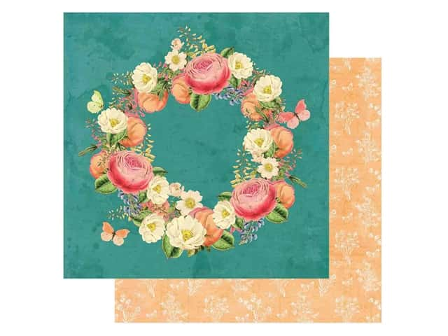 Simple Stories Collection Simple Vintage Garden District Paper 12 in. x 12 in. Love More
