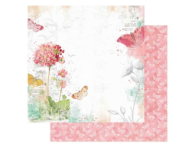 Simple Stories Collection Simple Vintage Garden District Paper 12 in. x 12 in. Never Stop Dreaming