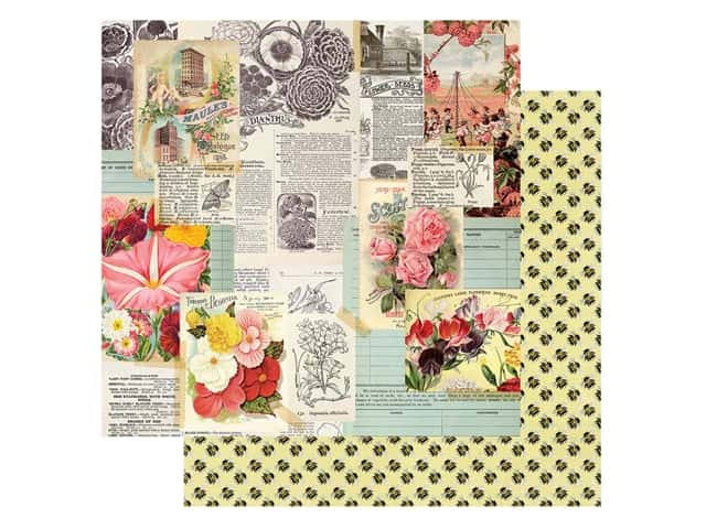 Simple Stories Collection Simple Vintage Garden District Paper 12 in. x 12 in. See The Beauty
