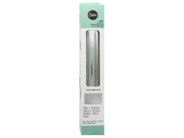 Sizzix Texture Roll 12 x 48 in. Silver