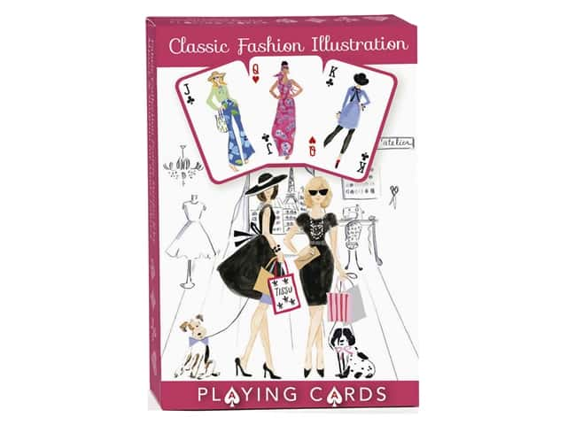 C&T Publishing Gifts Classic Fashion Illustration Playing Cards