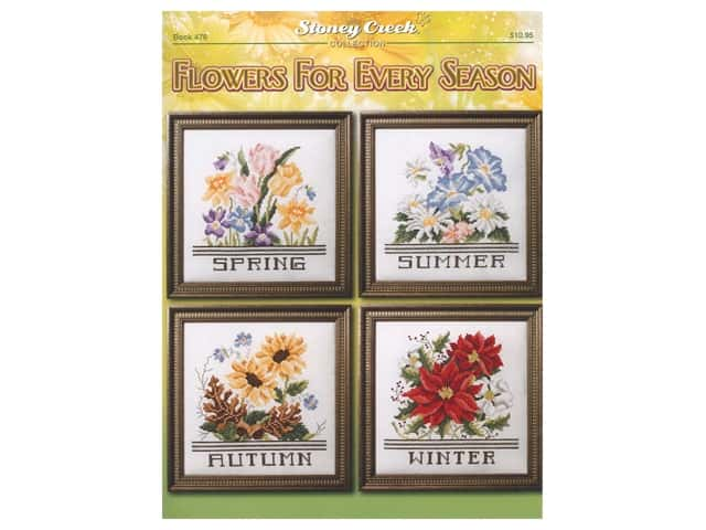 Stoney Creek Flowers For Every Season Cross Stitch Book