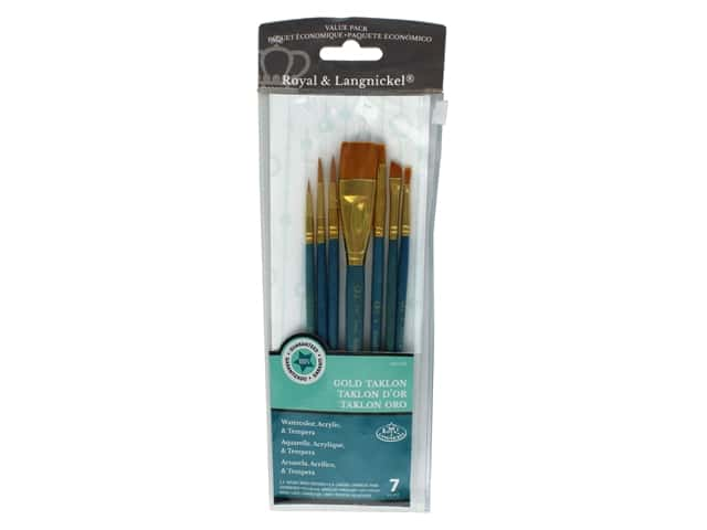Royal Brush Set Taklon Gold 7 pc