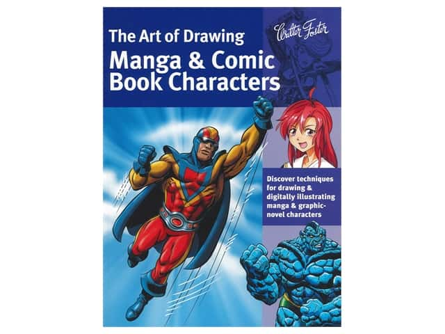Walter Foster Drawing Manga & Comic Book Characters Book
