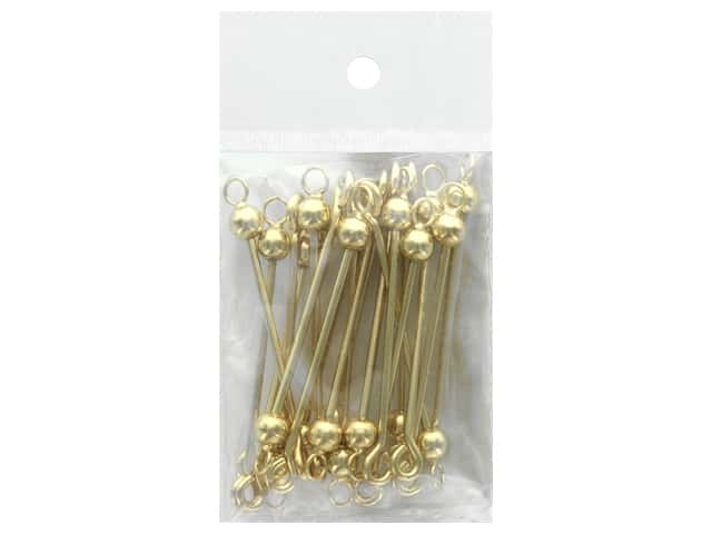 Beadalon Instant Pendant 6 mm Ball with 5 mm Ring Screw-on Finials 20 pc. Gold