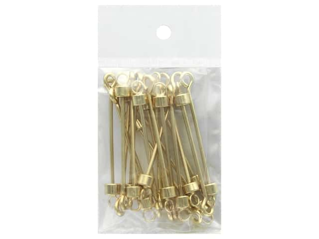Beadalon Instant Pendant 4 x 6 mm Cylinder with 5 mm Ring Screw-on Finials 20 pc. Gold