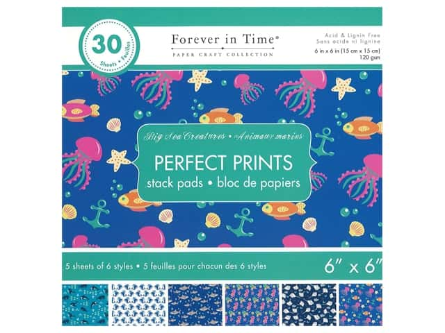 Multicraft Stack Pad 6 in. x 6 in. Big Sea Creatures