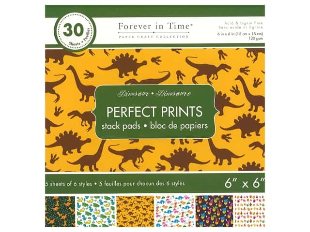 Multicraft Stack Pad 6 in. x 6 in. Dinosaurs