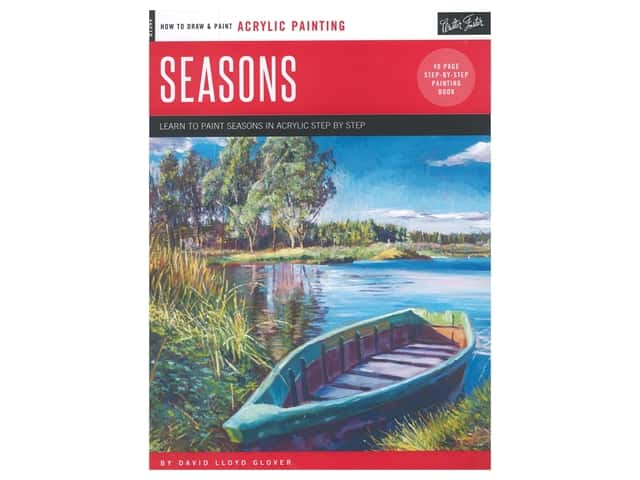 Walter Foster How To Draw & Paint Acrylic Painting Seasons Book