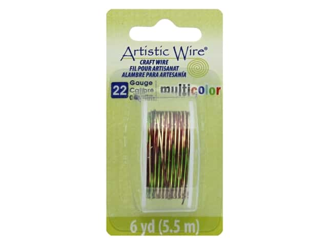 Artistic Wire Multicolor Craft Wire 22 Ga 6 yd. Brown/Green/Gold