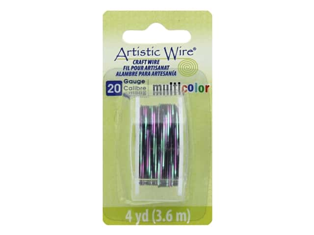 Artistic Wire Multicolor Craft Wire 20 Ga 4 yd. Pink/Black/Green