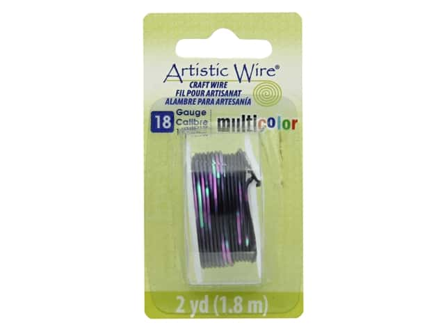 Artistic Wire Multicolor Craft Wire 18 Ga 2 yd. Pink/Black/Green