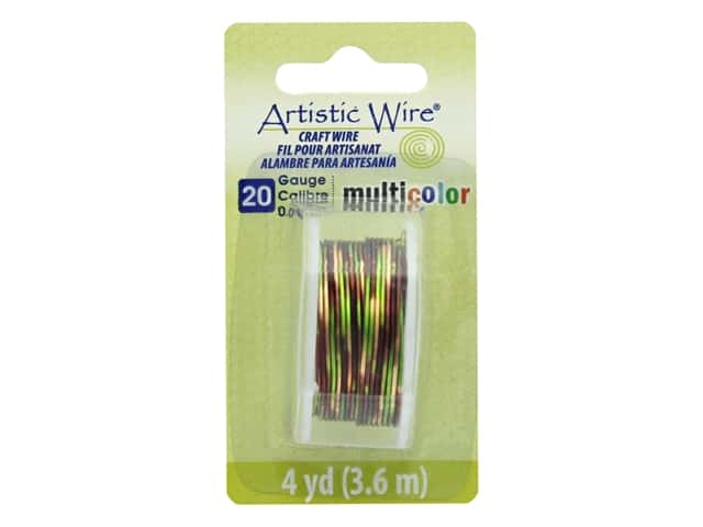 Artistic Wire Multicolor Craft Wire 20 Ga 4 yd. Brown/Green/Gold