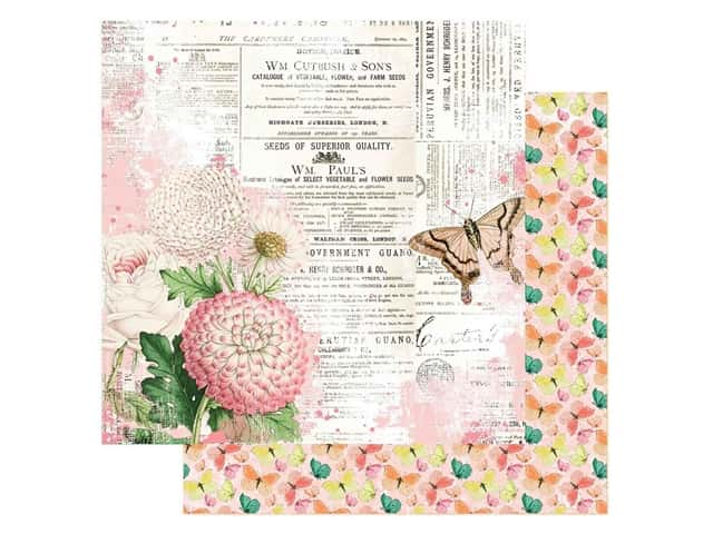 Simple Stories Collection Simple Vintage Garden District Paper 12 in. x 12 in. You Can Fly