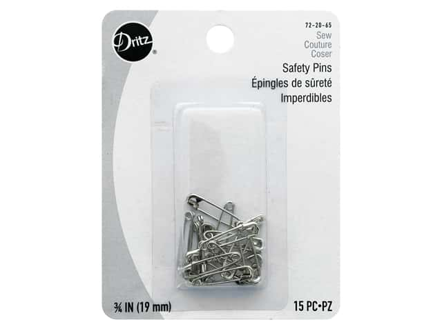 Dritz Safety Pins 3/4 in. Nickel 15 pc.