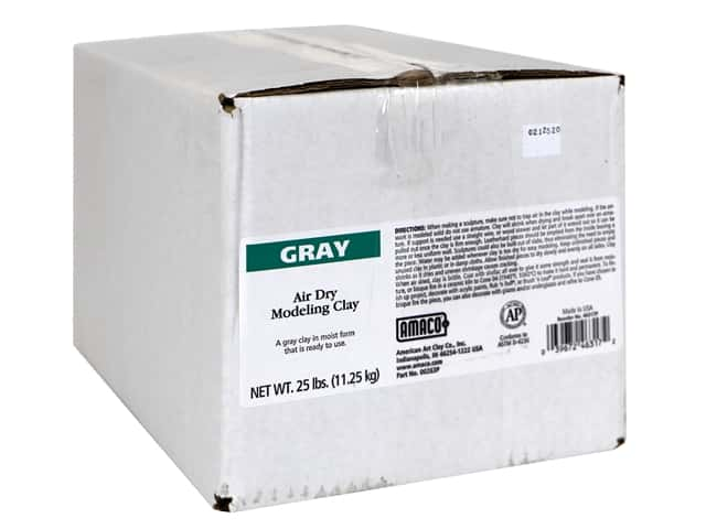 AMACO Air Dry Clay - Gray 25 lb.