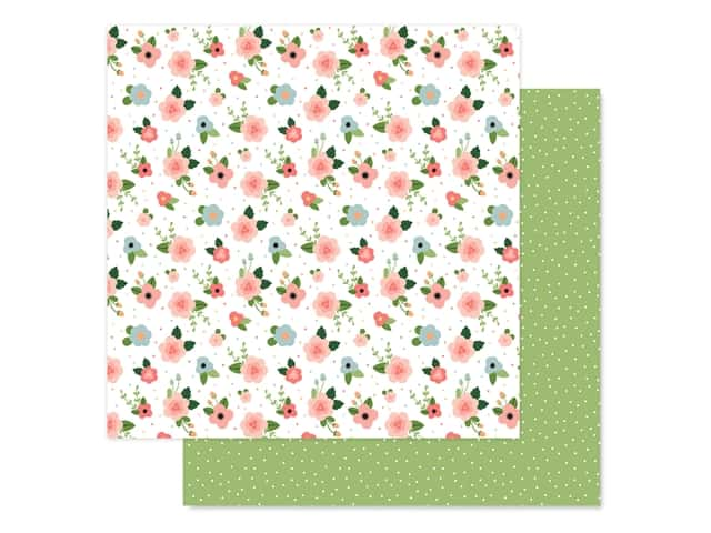 Echo Park Baby Girl Collection Paper 12 in. x 12 in. Newborn Floral