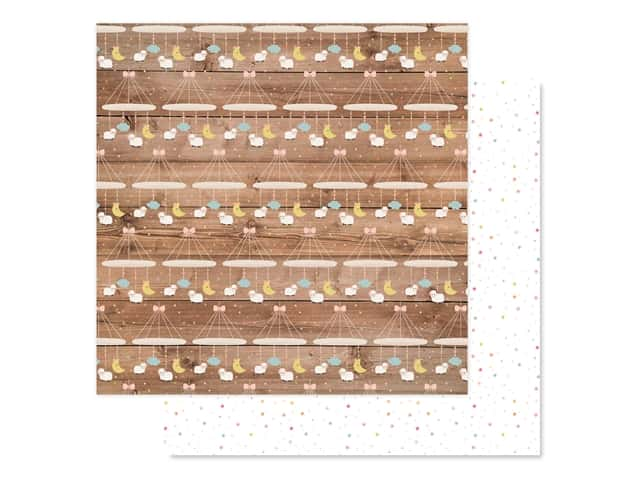 Echo Park Baby Girl Collection Paper 12 in. x 12 in. Little Lady Mobile