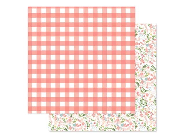 Echo Park Baby Girl Collection Paper 12 in. x 12 in. Girl Gingham