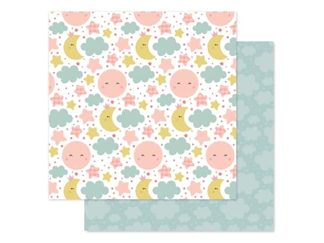 Echo Park Baby Girl Collection Paper 12 in. x 12 in. Dream Big