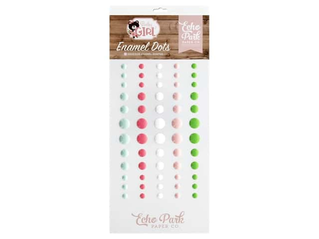 Echo Park Baby Girl Collection Enamel Dots
