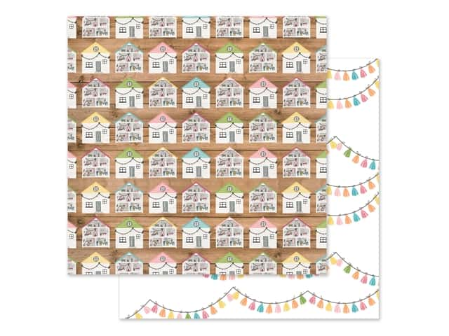 Echo Park Collection All Girl Paper 12 in. x 12 in. Dollhouse Dreams