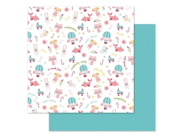 Echo Park Collection All Girl Paper 12 in. x 12 in. Imagination