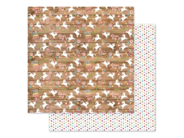 Echo Park Collection All Girl Paper 12 in. x 12 in. Happy Unicorns
