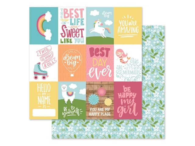 Echo Park Collection All Girl Paper 12 in. x 12 in. Journaling Cards 3 in. x 4 in.
