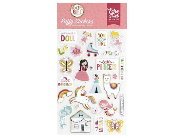 Echo Park Collection All Girl Sticker Puffy