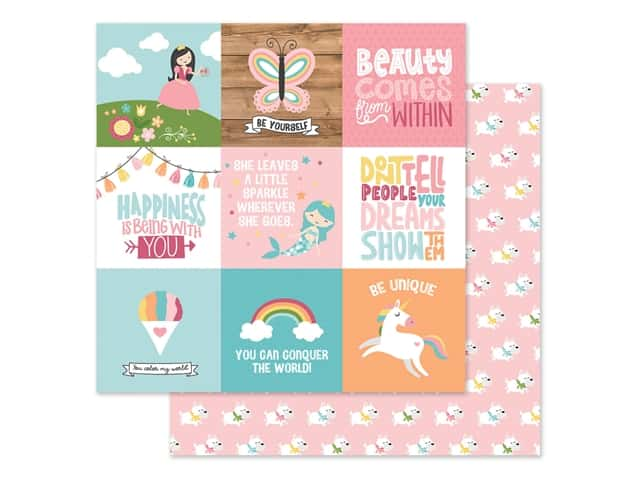Echo Park Collection All Girl Paper 12 in. x 12 in. Journaling Cards 4 in. x 4 in.