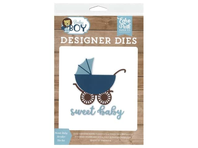 Echo Park Collection Baby Boy Die Set Sweet Baby Stroller