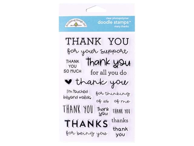 Doodlebug Collection All Occasion Stamp Many Thanks