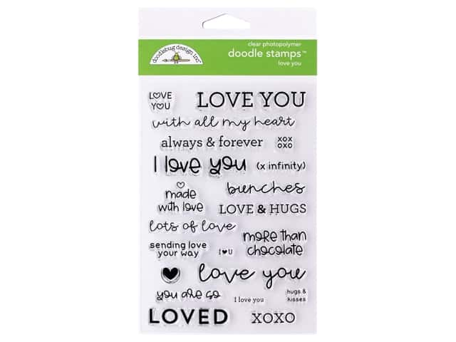 Doodlebug Collection All Occasion Stamp Love You