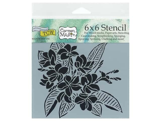 The Crafter's Workshop Stencil 6 x 6 in. Plumeria