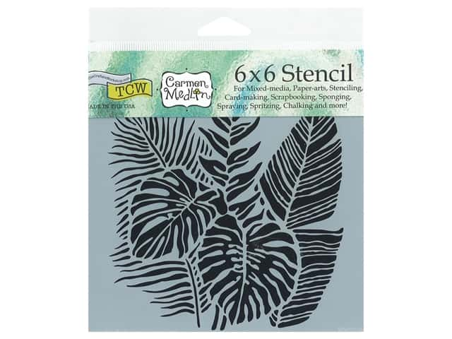 The Crafter's Workshop Stencil 6 x 6 in. Tropical Friends