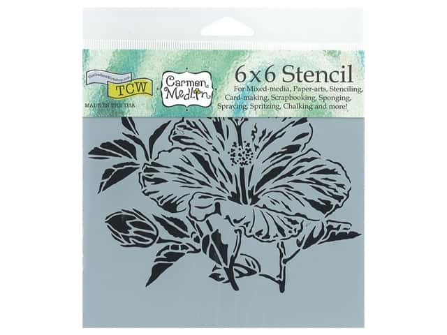 The Crafter's Workshop Stencil 6 x 6 in. Hibiscus