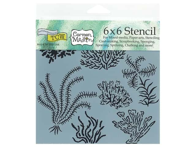 The Crafter's Workshop Stencil 6 x 6 in. Gulf Coast Flora