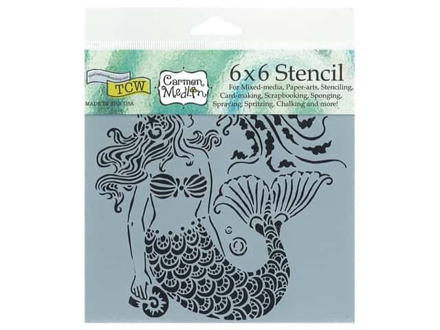 The Crafter's Workshop Stencil 6 x 6 in. Mermaid Dreams